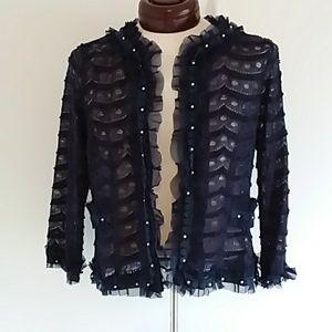 Ryu Sheer Navy Lace Jacket